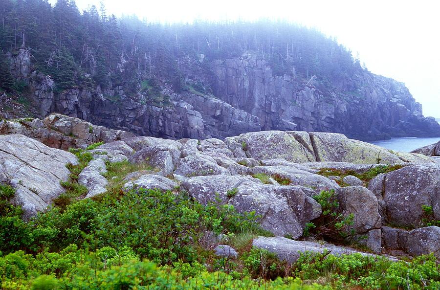 Landscape Photograph - Rocky Maine Coast by Amanda Kiplinger