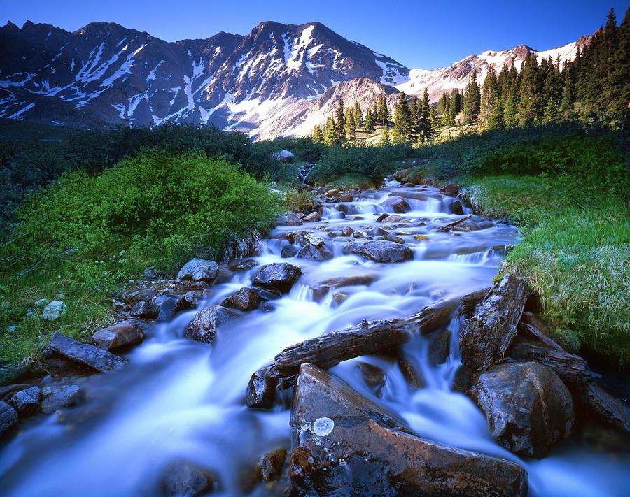 Rocky Mountain Cascade Photograph by Ray Mathis
