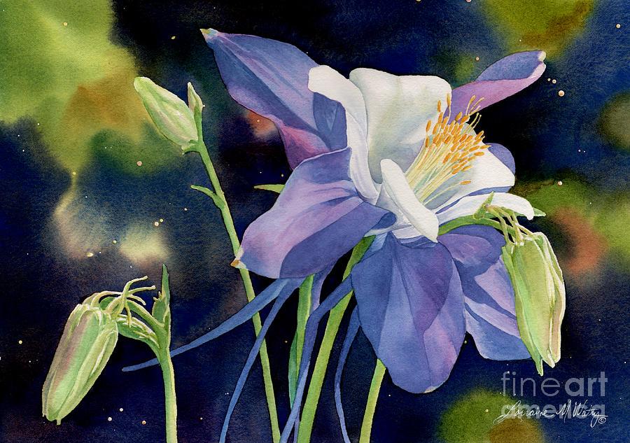 Flower Painting - Rocky Mountain Columbine by Lorraine Watry