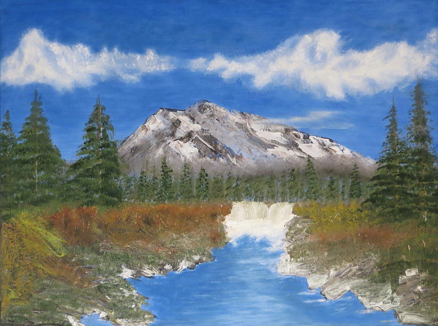 Mountains Painting - Rocky Mountain Creek by Tim Townsend