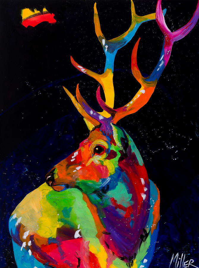 Tracy Miller Painting - Rocky Mountain Elk by Tracy Miller