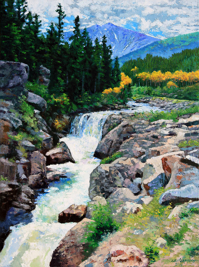 Rocky Mountains Painting - Rocky Mountain High by John Lautermilch