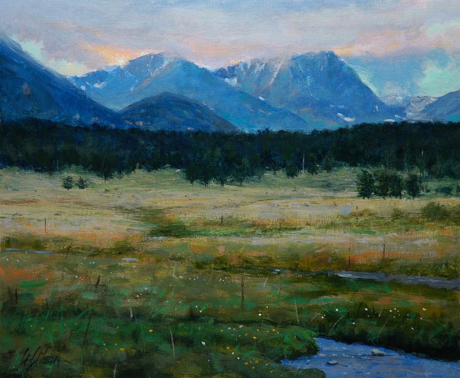 Landscape Painting - Rocky Mountain National Park by Greg Clibon