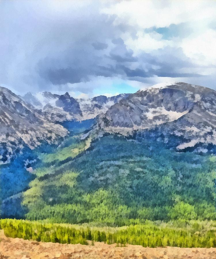 Rocky Mountain High Painting - Rocky Mountain National Park Painting by Dan Sproul