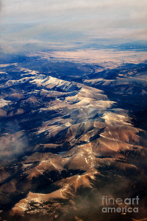 Mountain Photograph - Rocky Mountain Peaks From Above by Darleen Stry