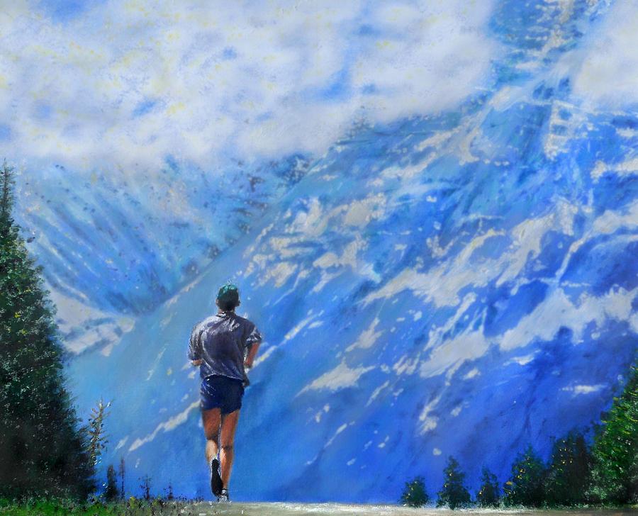 Ed Painting - Rocky Mountain Run by Edward Pollick