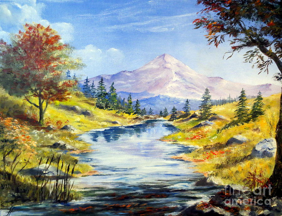 Sky Painting - Rocky Mountain Stream by Lee Piper