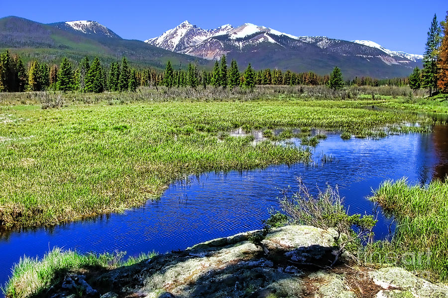 Colorado Photograph - Rocky Mountains River by Olivier Le Queinec