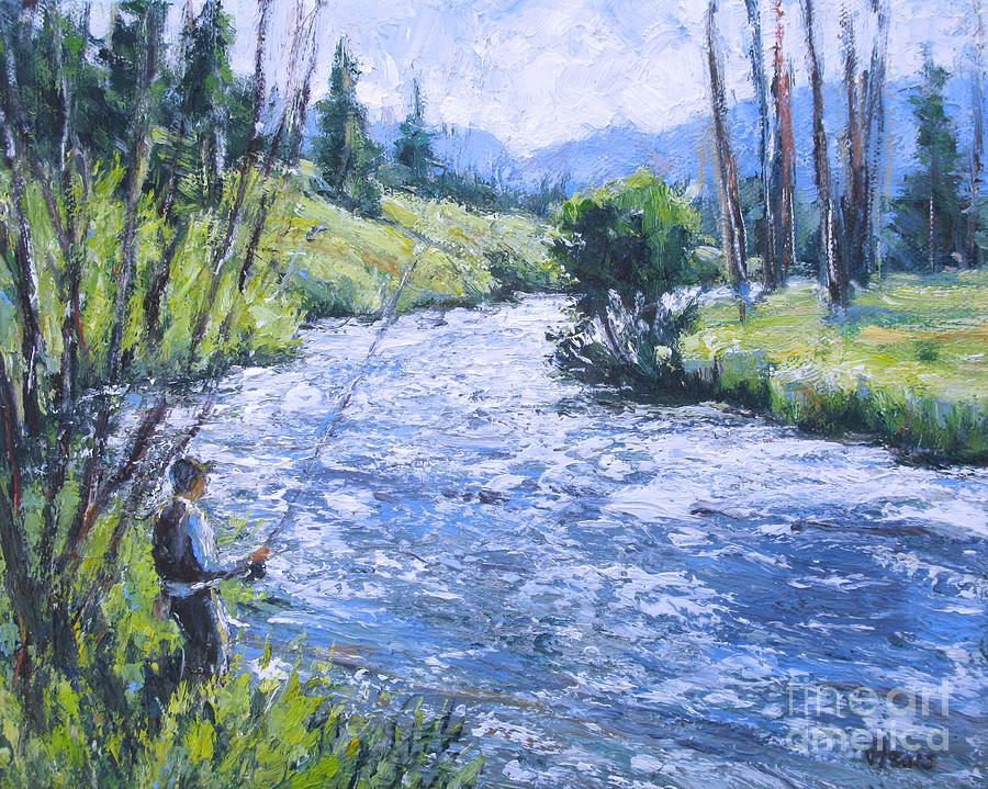 Rocky Mtn Fishing by Vickie Fears