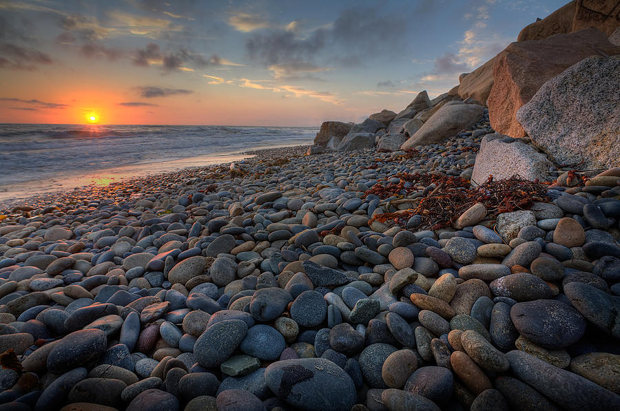Beach Photograph - Rocky North Ponto by Peter Tellone