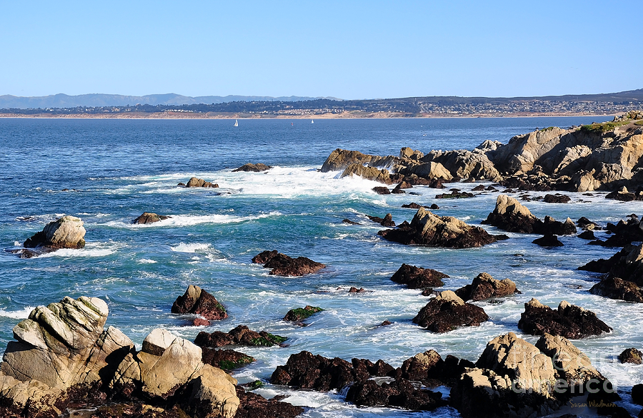 California Photograph - Rocky Remains At Monterey Bay by Susan Wiedmann