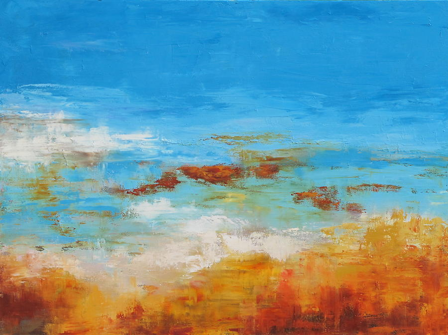 Blue Painting - Rocky Shore by Barrett Edwards