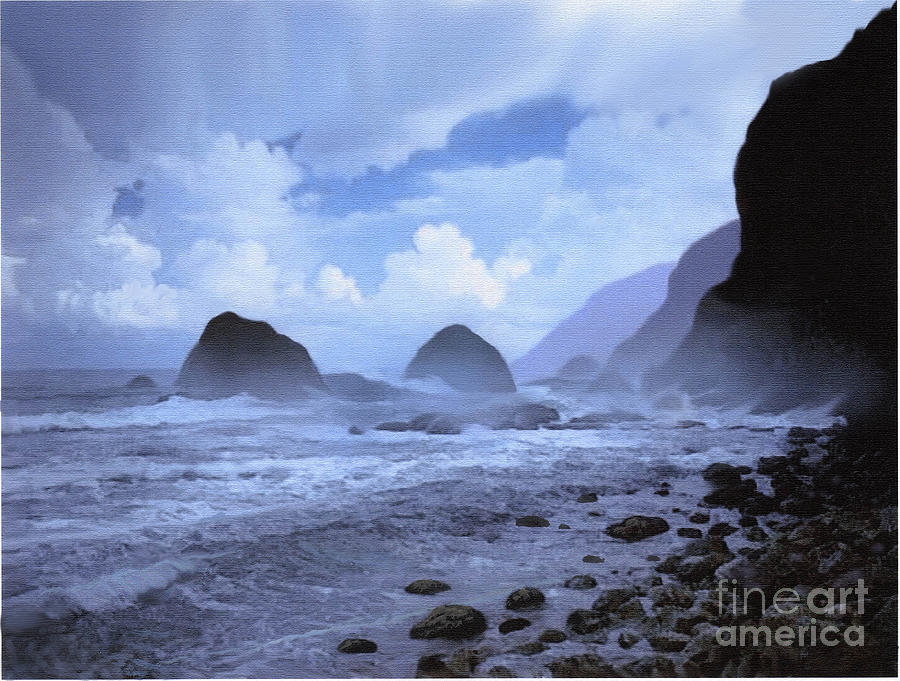 Rocky Shore Painting By Robert Foster