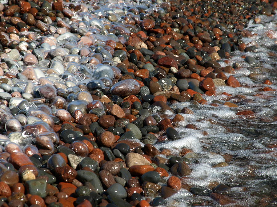 Rocky Shoreline Abstract Photograph by James Peterson