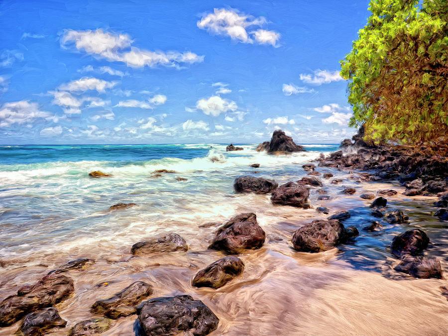 Rocky Shoreline Painting - Rocky Shoreline by Dominic Piperata