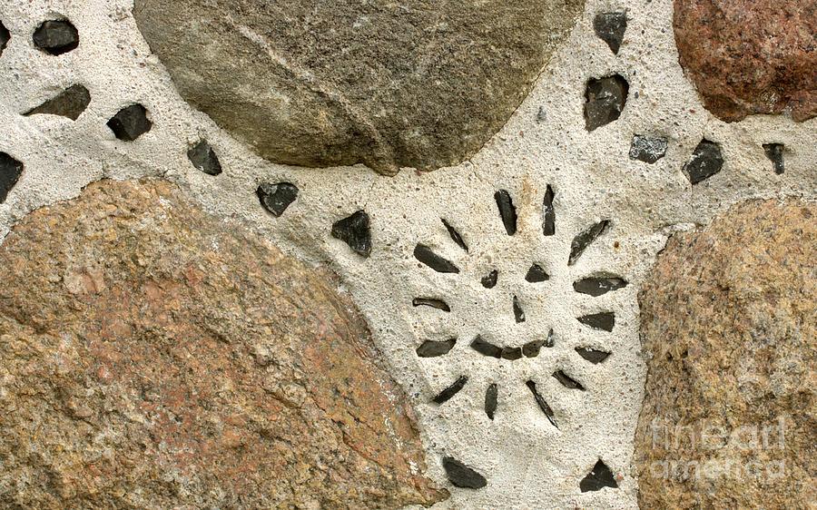 Stone Wall Photograph - Rocky Smile by Jolanta Meskauskiene