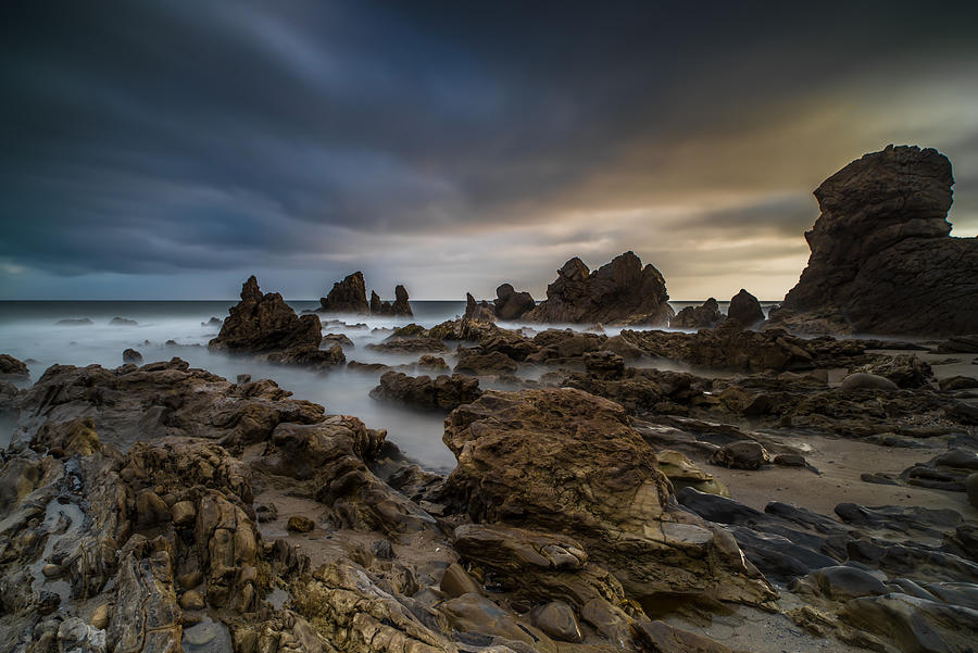 Corona Del Mar Photograph - Rocky Southern California Beach 4 by Larry Marshall