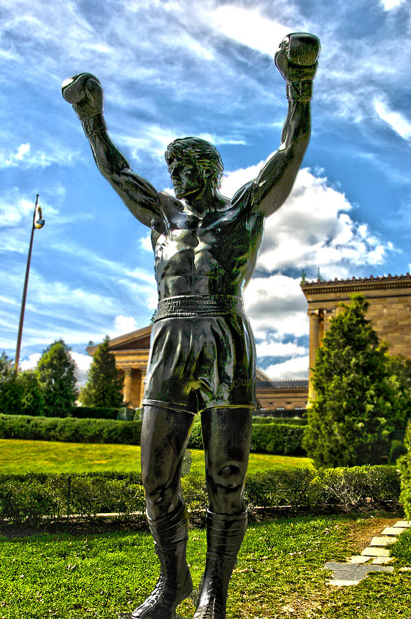 Cities Photograph - Rocky Statue by Frank Savarese