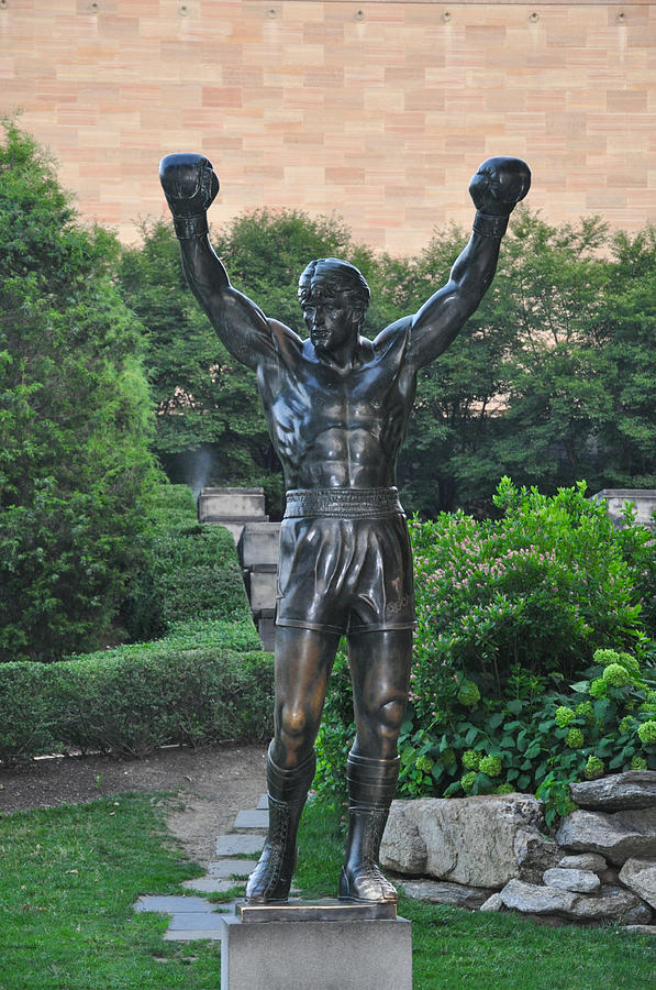 Rocky Photograph - Rocky Statue - Philadelphia by Bill Cannon