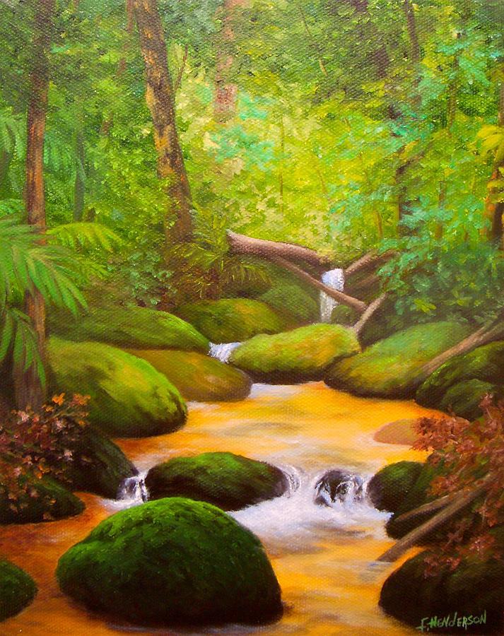 Rocks Painting - Rocky Stream by Francine Henderson