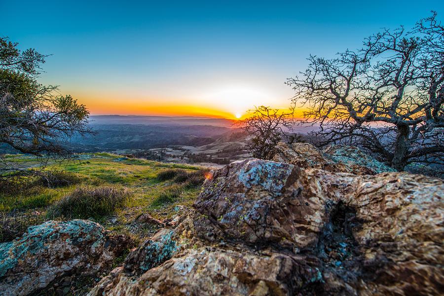 Rocks Photograph - Rocky Sunset by Paul Johnson