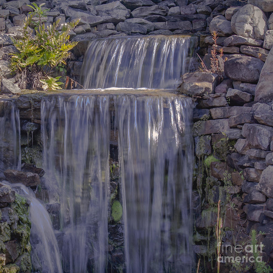 Waterfall Photograph - Rocky Waterfall by Michael Waters