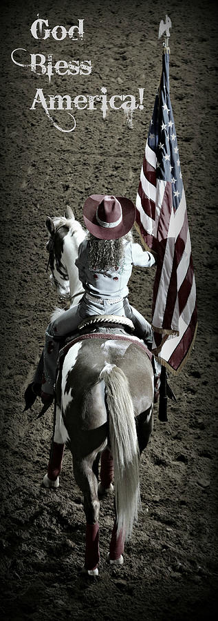 Rodeo America - God Bless America Photograph