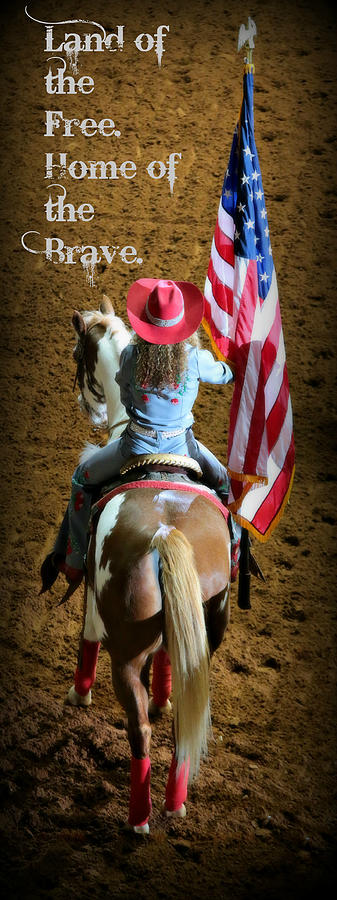 Rodeo America - Land Of The Free Photograph