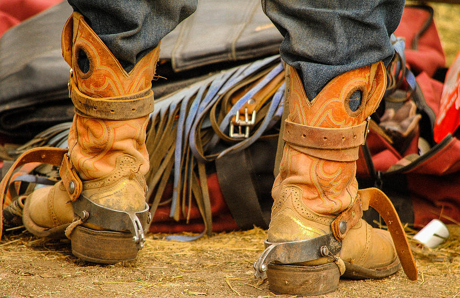 Boot Photograph - Rodeo Cowboy Tools Of The Trade by Miki  Finn