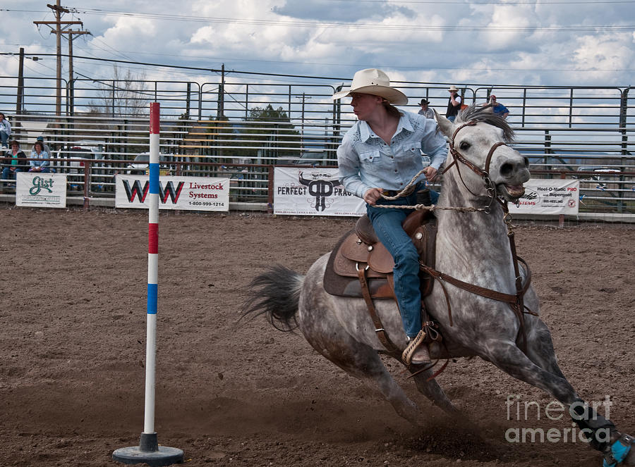 Rodeo pole racing teen photograph by valerie garner - Valerie garnering ...