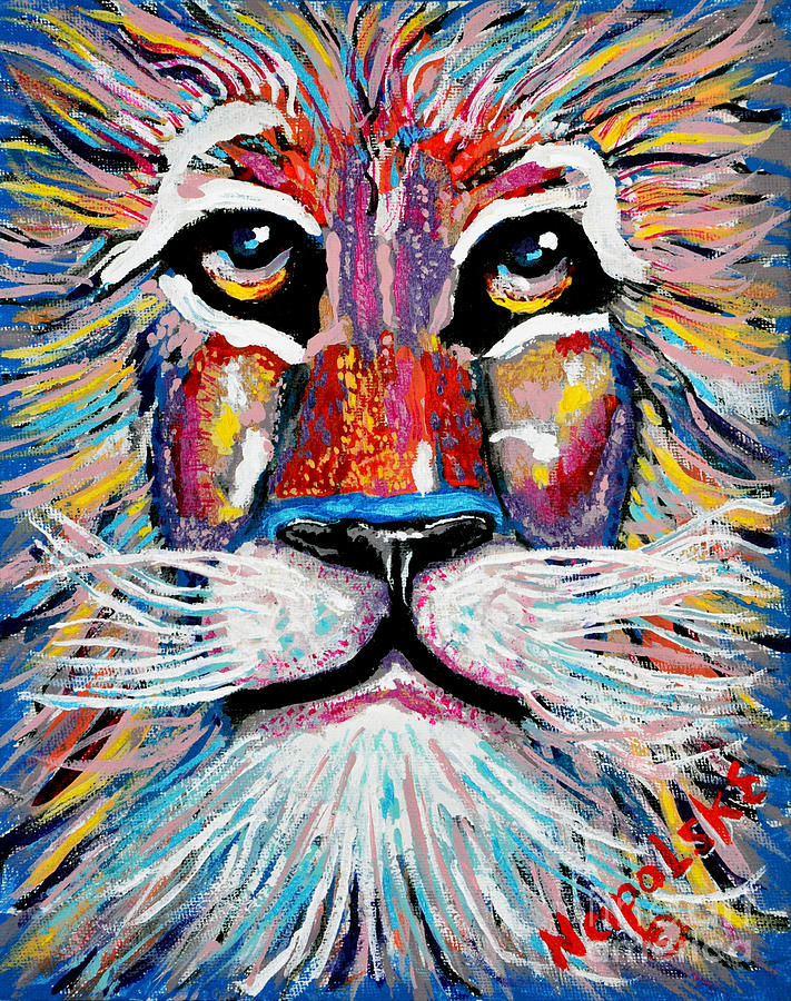 Rodney Abstract Lion by Barney Napolske