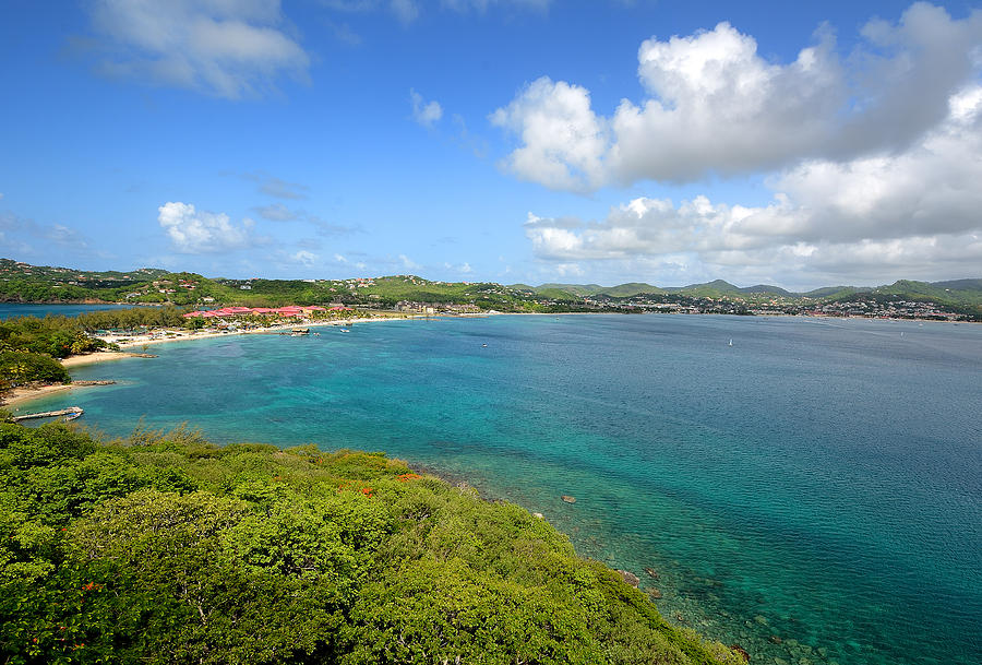 St Lucia Photograph - Rodney Bay Viewed From Fort Rodney - St. Lucia by Brendan Reals