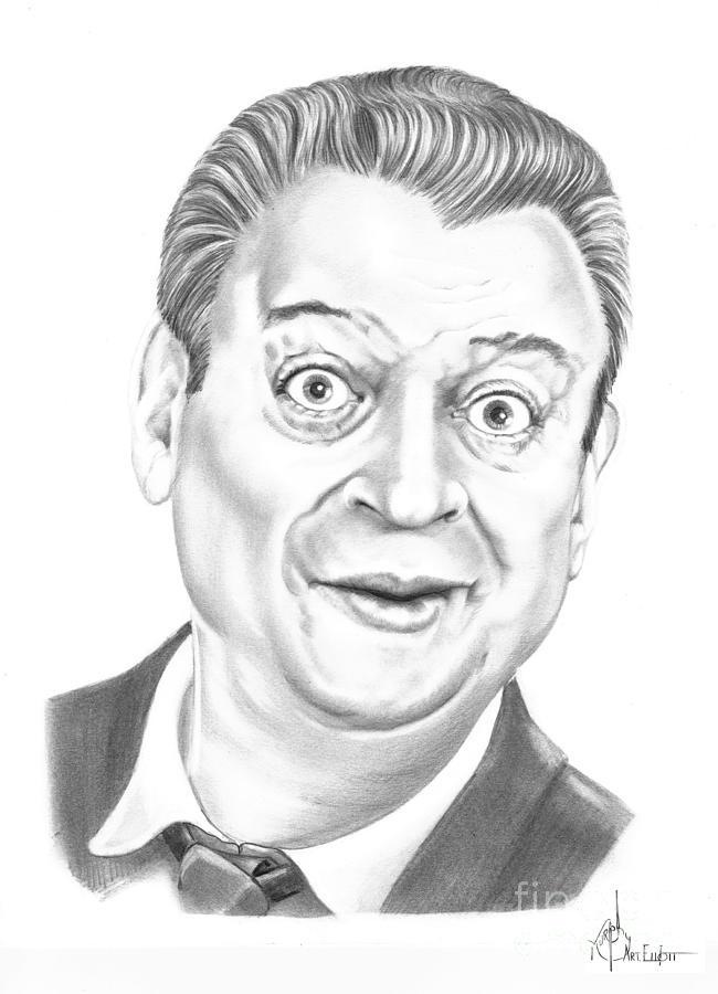 Pencil Drawing - Rodney Dangerfield by Murphy Elliott