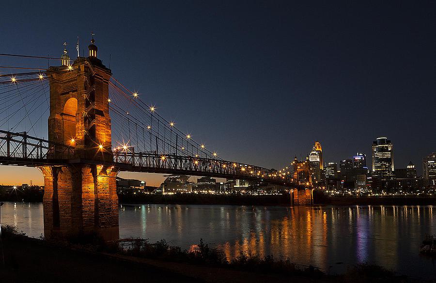 Roebling Bridge At Night Teresa Jack