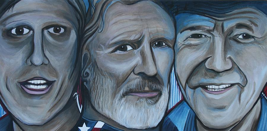 Roger Alan Wade Painting - Roger Alan Wade Kris Kristoferson Billy Joe Shaver by Kate Fortin