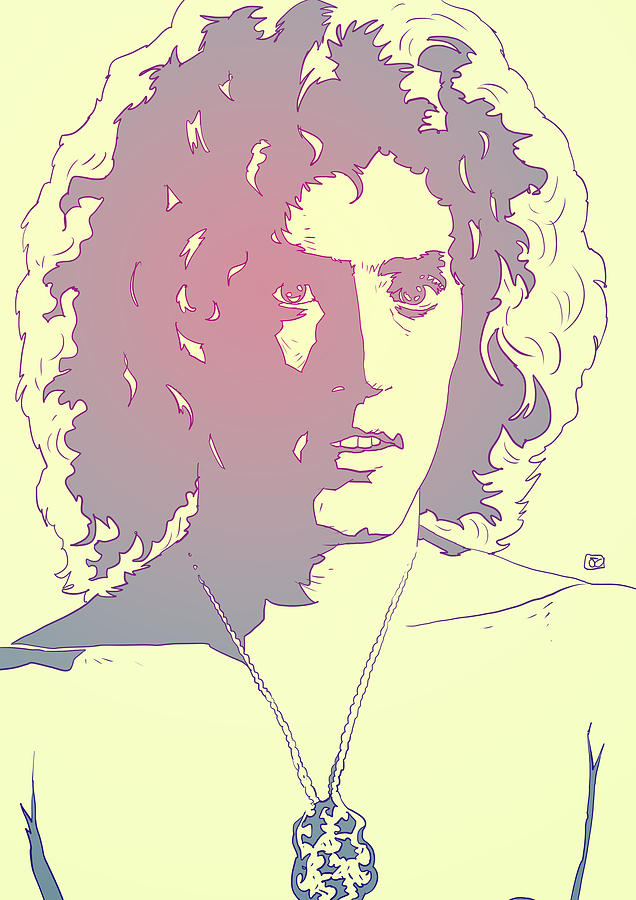 The Who Drawing - Roger Daltrey by Giuseppe Cristiano