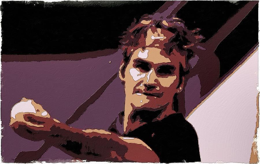 Roger Federer Painting - Roger Federer Poster Art by Florian Rodarte