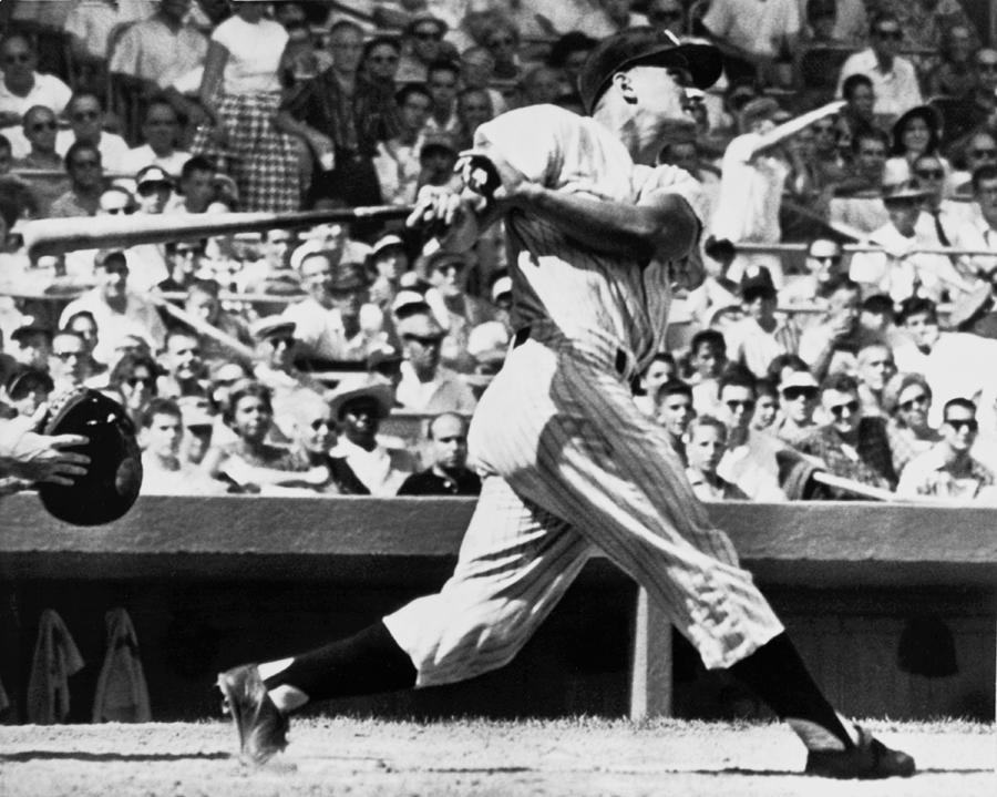 1950's Photograph - Roger Maris Hits 52nd Home Run by Underwood Archives