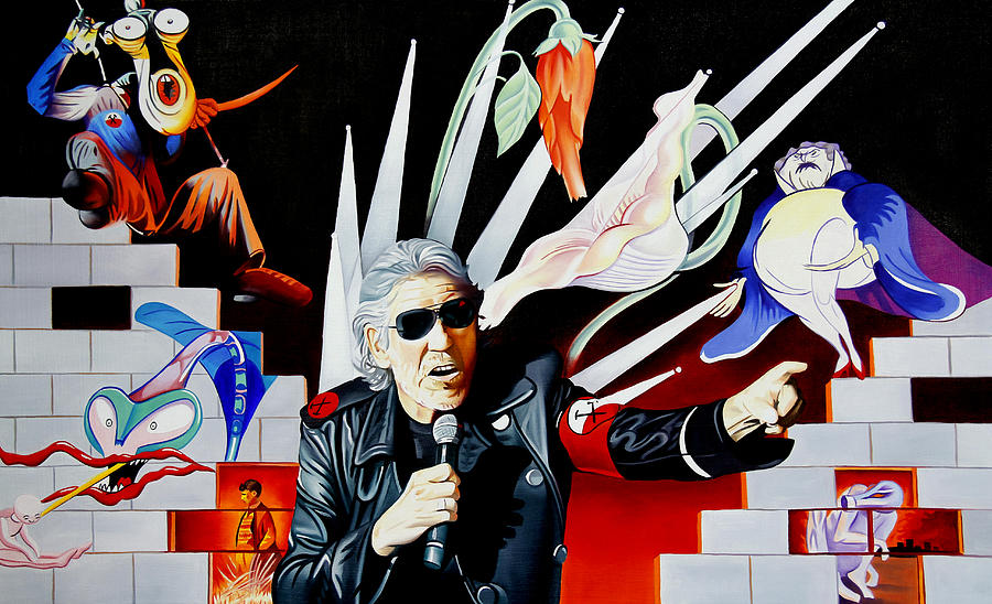 Roger Waters Painting - Roger Waters-the Wall by Joshua Morton