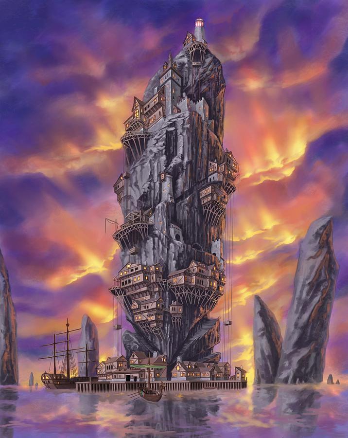 Fantasy Digital Art - Rogue Haven by Bryan Syme