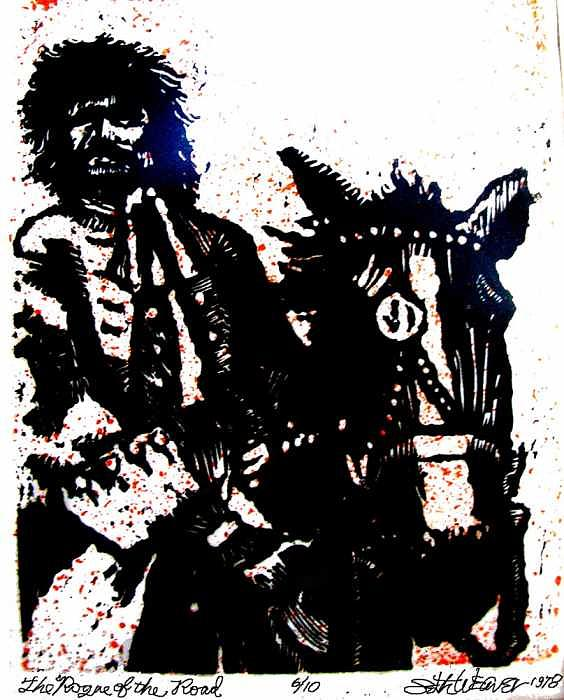 Bandit Mixed Media - Rogue of the Road by Seth Weaver