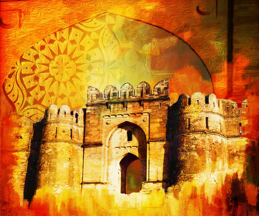 Pakistan Painting - Rohtas Fort 00 by Catf