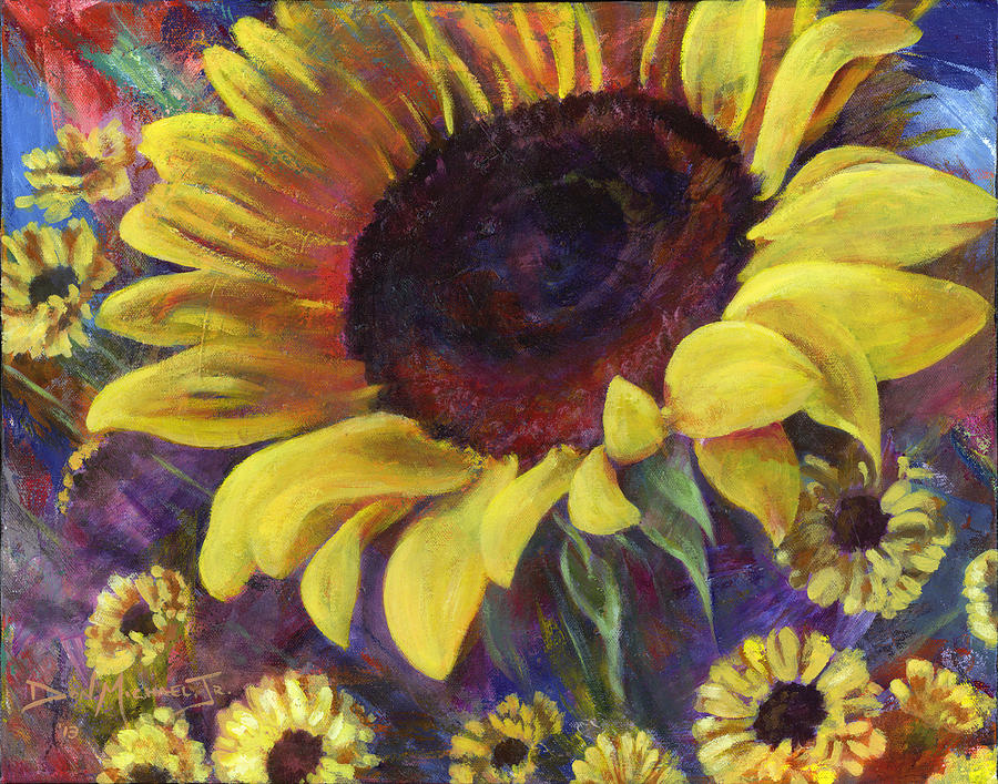 Sunflower Painting - Role Model by Don Michael Jr