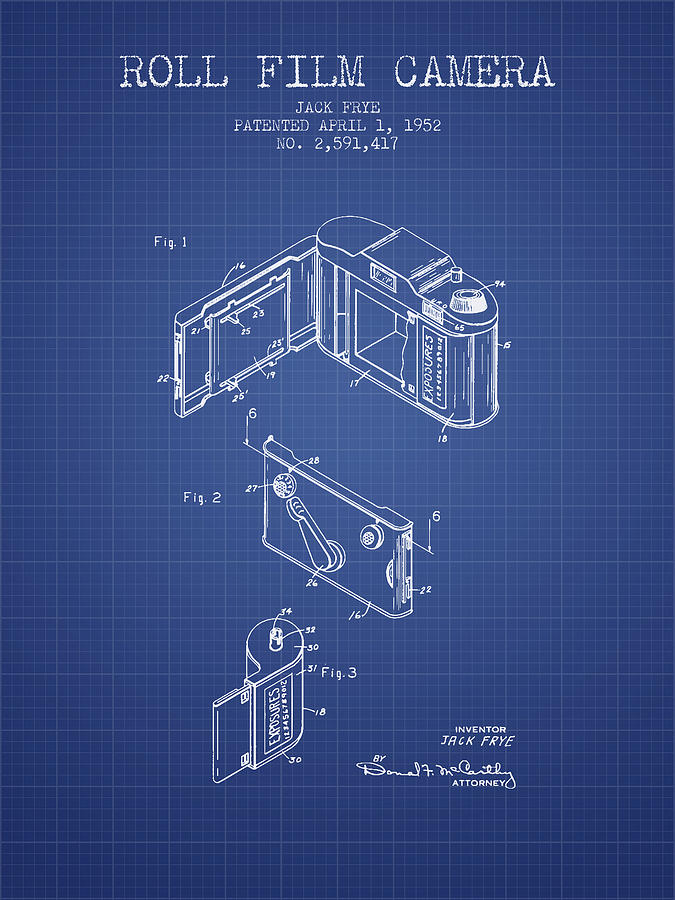 Roll film camera patent from 1952 blueprint digital art by aged pixel camera digital art roll film camera patent from 1952 blueprint by aged pixel malvernweather Images