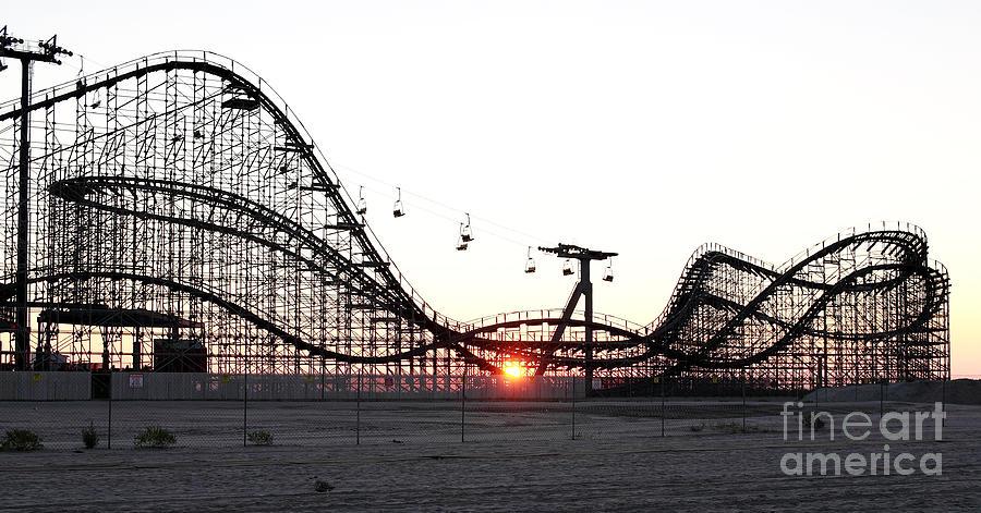 Roller Coaster Photograph - Roller Coaster by John Rizzuto