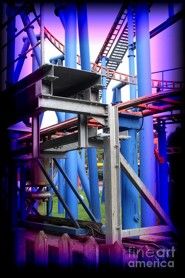 Amusement Park Ride Photograph - Roller Coaster by Doc Braham