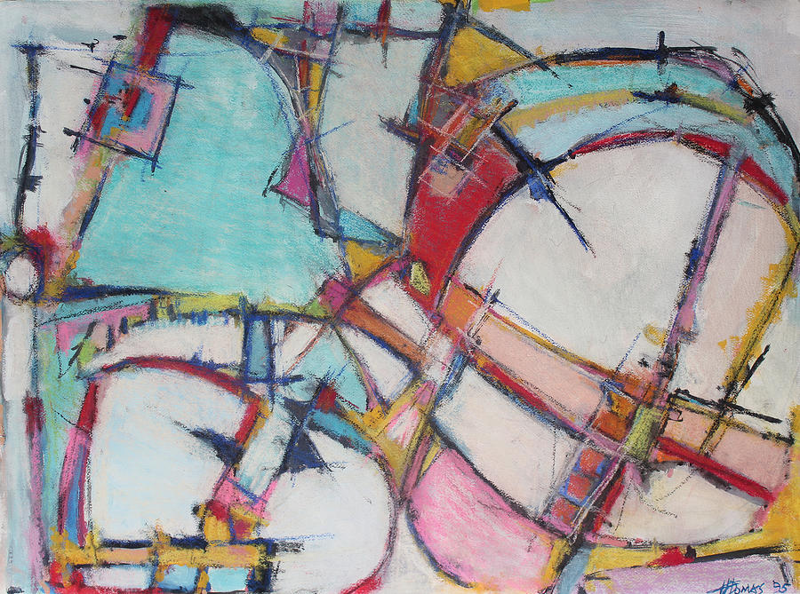 Abstract Painting Painting - Roller Coaster Of Reincarnation by Hari Thomas