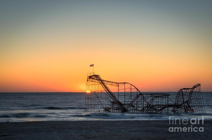 Nikon D800 Photograph - Roller Coaster Sunrise by Michael Ver Sprill