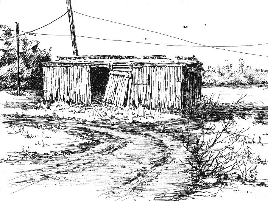 Boxcar Drawing - Rollin On by Sam Sidders