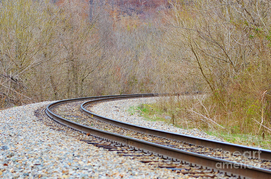 Tracks Photograph - Rolling Down The Line by Brenda Dorman